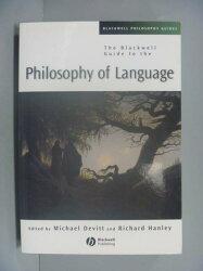【書寶二手書T3/哲學_XBE】The Blackwell Guide To Philosophy Of Languag