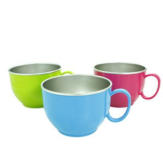 美國Innobaby stainless dinner bowl 不鏽鋼晚餐碗 (大碗) 不銹鋼單耳大杯【紅色】