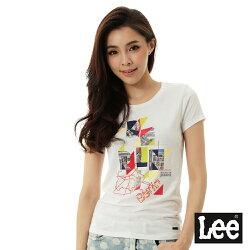 Lee 城市短袖T恤-女-白