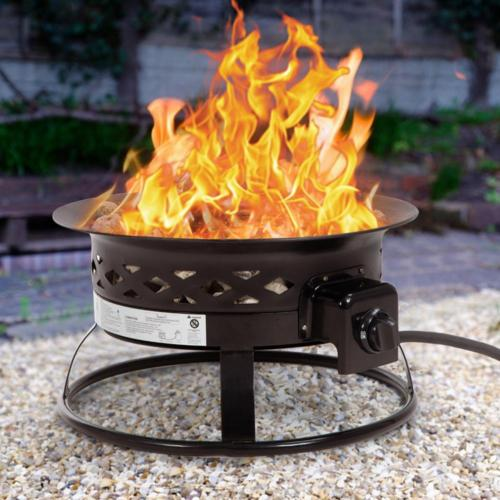 Patio Propane Gas Fire Pit Outdoor Portable Bowl For Camping Backyards 0