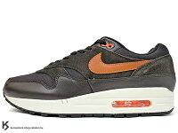 男性慢跑鞋到[20% OFF][31cm] 2017 台灣未發售 經典復刻鞋款 NIKE AIR MAX 1 PREMIUM 深咖啡 橘勾 皮革 麂皮 氣墊 慢跑鞋 PRM (875844-202) !就在KUMASTOCK推薦男性慢跑鞋