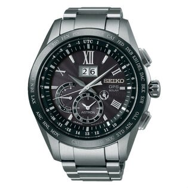 SeikoAstron8X42-0AB0D(SSE137J1)太陽能GPS對時大視窗日期鈦金屬腕錶黑面44.8mm