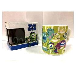【真愛日本】18121400001 馬克杯-全人物綠 迪士尼 怪獸大學 毛怪 大眼仔 馬克杯 水杯 杯子 單耳杯 陶瓷杯 交換禮物