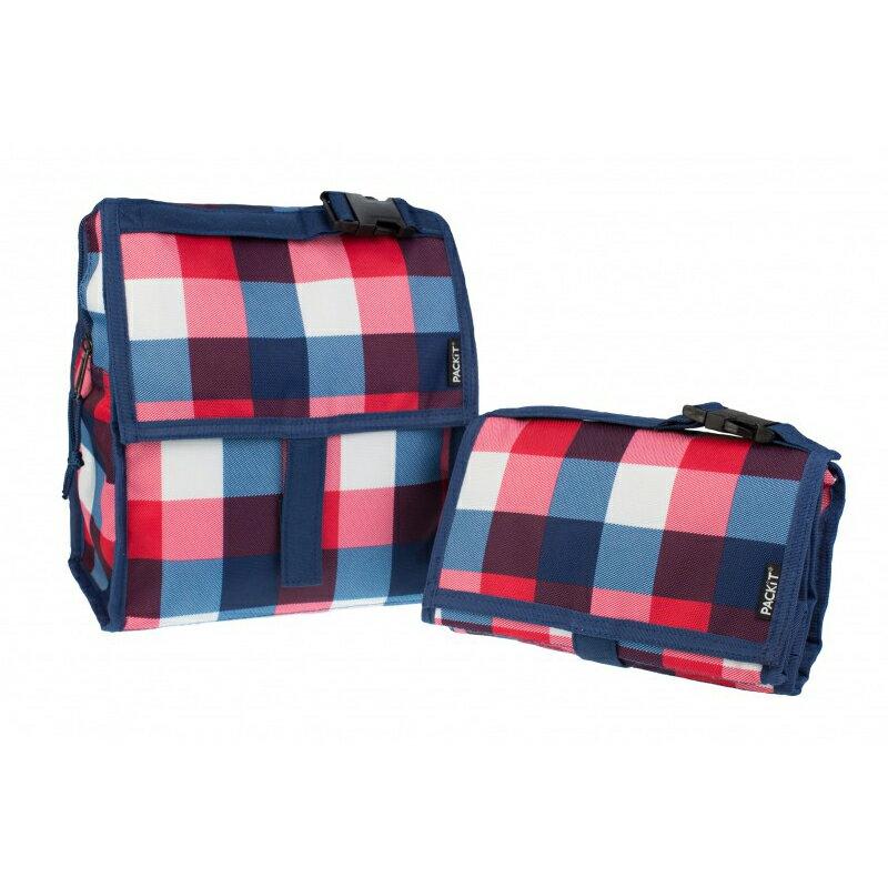 美國 【PACKiT】冰酷 多功能冷藏袋(英倫方格) - 限時優惠好康折扣