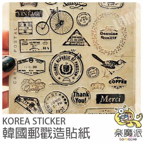 『樂魔派』韓國進口郵戳圖案透明貼紙 日記塗鴉相本底片裝飾用另售迪士尼紙膠帶