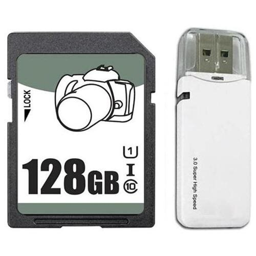 OEM 128GB 128G SD SDHC SDXC Card Class 10 Ultra High Speed UHS-I for Camera w/ USB 3.0 Reader 0