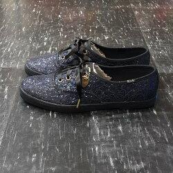 Keds Taylor Swift 泰勒絲 聯名款 簽名款 亮片 緞帶鞋帶 蕾絲 藍色 深藍色 修長 限量款 附簽名吊飾