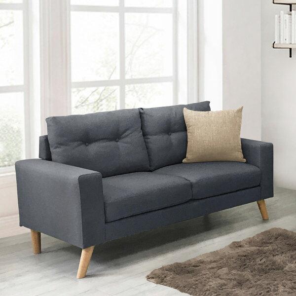 !新生活家具!《翡翠》新品灰色雙人沙發二人座二人位布沙發亞麻布日式清新自然套房客廳工廠直營