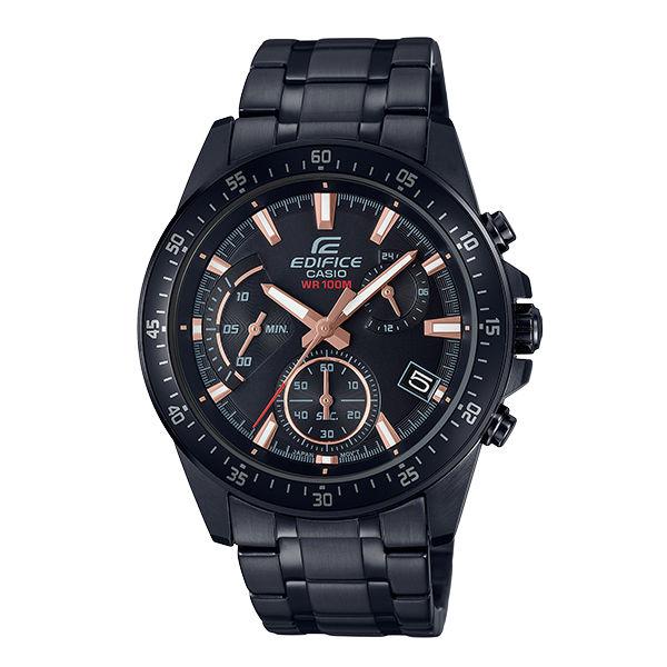 大高雄鐘錶城:CASIO卡西歐EDIFICEEFV-540DC-1B三針三眼時尚賽車腕錶44mm