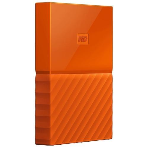 WD My Passport WDBYFT0040BOR-WESN 4 TB External Hard Drive - USB 3.0 - Portable - Orange - 256-bit Encryption Standard