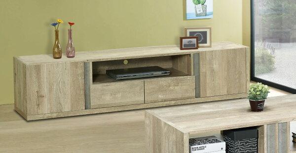 尚品傢俱:【尚品傢俱】JF-231-2約翰6尺厚切木紋二門二抽長櫃