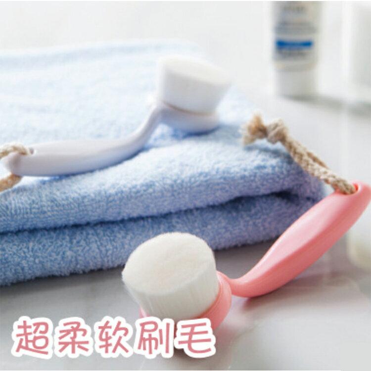 去黑頭 牙刷型彈力超細柔軟毛深層洗臉潔面刷【庫奇小舖】