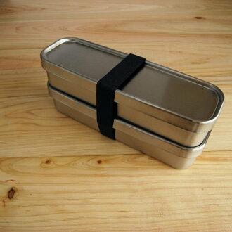 *新品上市*日本製 工房AIZAWA 不銹鋼便當盒 雙層長型經典款-350ml*2-現貨