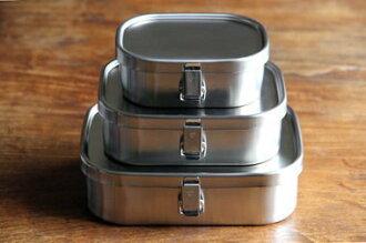 *新品上市*日本製 日本知名工房AIZAWA 不銹鋼便當盒 角型環扣款-360ml-現貨-S