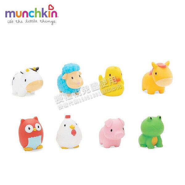 美國munchkin動物農場噴水洗澡玩具8入【悅兒園婦幼生活館】