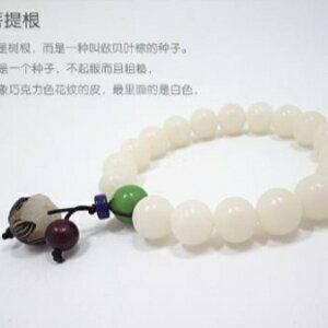 美麗大街【GS442】 天然白玉菩提根手串 菩提子蓮花佛珠手串轉運珠女士款手鍊