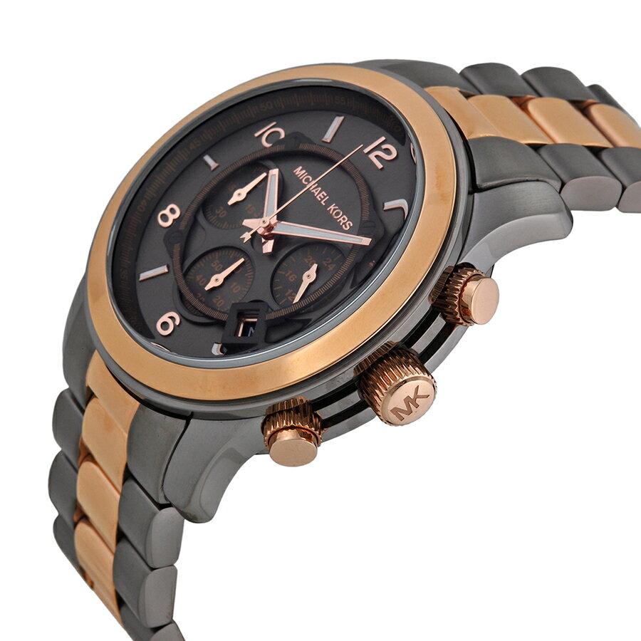 【MICHAEL KORS】正品 (男錶) 黑玫瑰金  三眼 計時 手錶 腕錶 MK8189 1