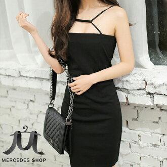 梅西蒂絲 -大露背緊身包臀修身禮服無袖洋裝-S-XL