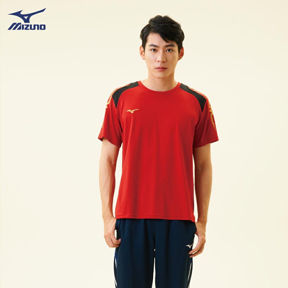 32TA800362(紅)抗紫外線吸汗快乾材質 男短袖T恤【美津濃MIZUNO】 3