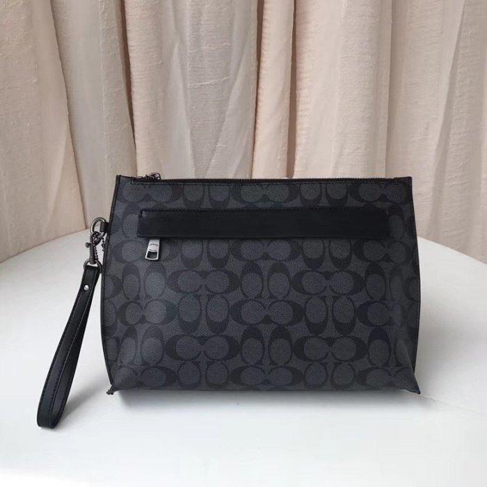 *vivi shop*美國COACH F29508 男士C紋皮革手拿包 & F29127 (迷彩系).簡約時尚手腕包 手拎包 (美國代購Outlet專場)-附購票證明