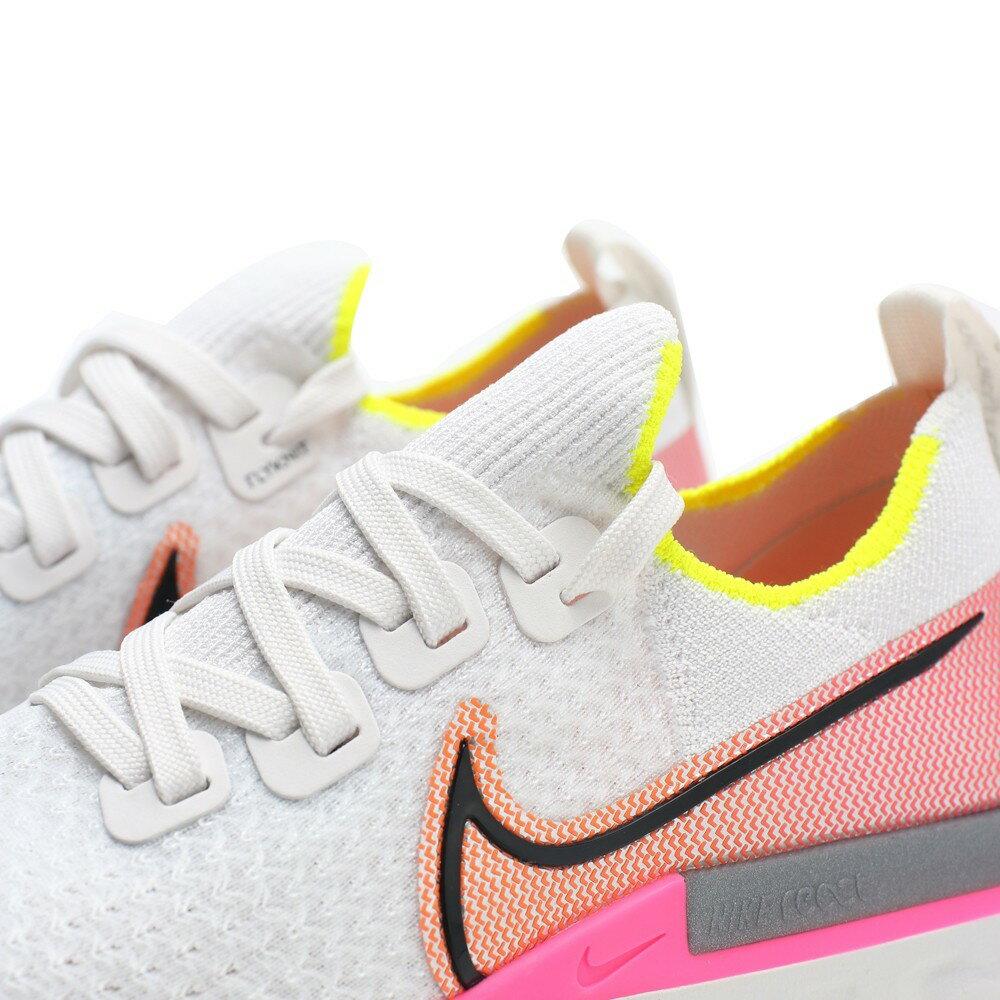 NIKE 慢跑鞋 W REACT INFINITY RUN FK 白紅 編織 襪套 女 (布魯克林) CD4372-004