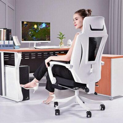 免運 電競椅遊戲椅可躺電腦椅家用午休網布辦公椅子職員轉椅座椅