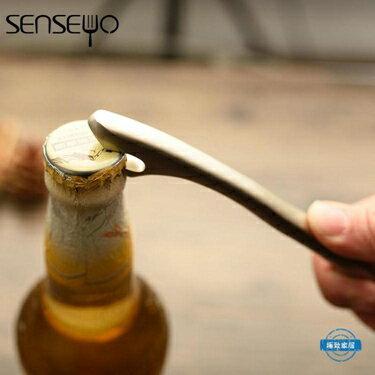 開瓶器啤酒開瓶器 創意起子家用啟瓶器不銹鋼色 1