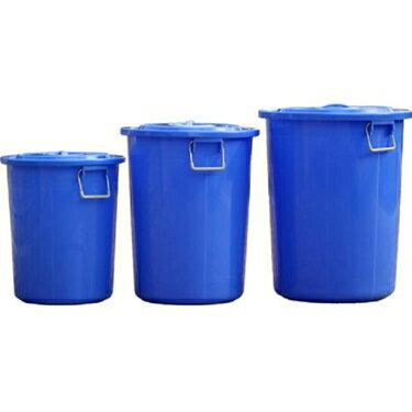 領券下定更優惠 大號戶外酒店廚房圓形垃圾桶工業物業商用塑料桶收納水桶160L有蓋