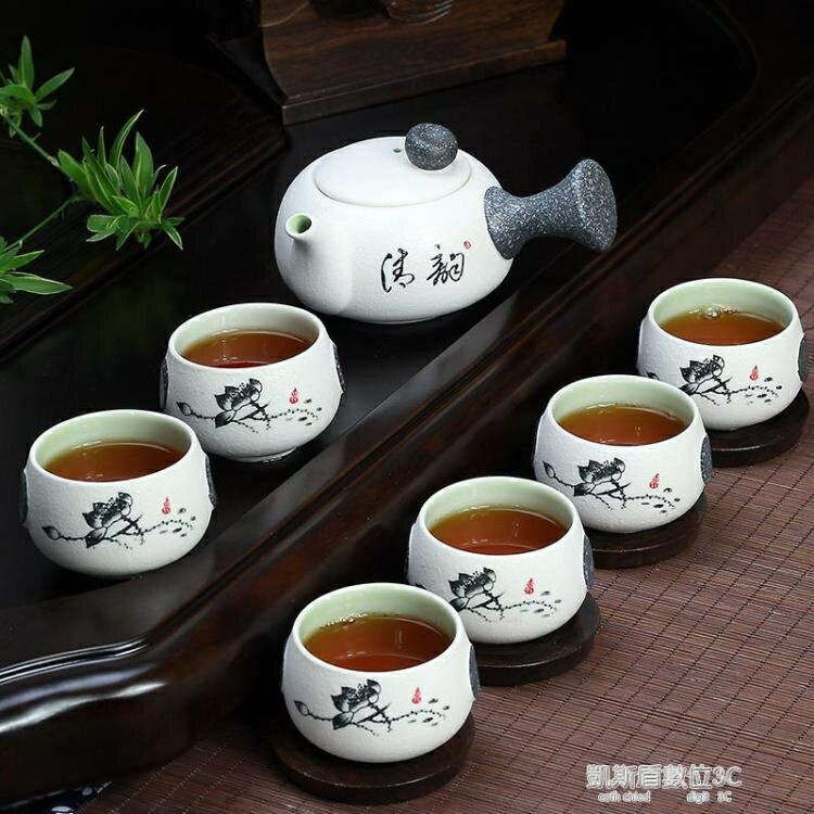 雪花釉陶瓷功夫茶具套裝家用 茶具套裝 茶壺茶杯套裝整套茶具