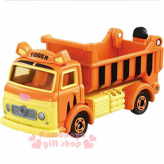 〔小禮堂〕迪士尼 跳跳虎 TOMICA小汽車《橘.載土車.DM-09》經典造型值得收藏