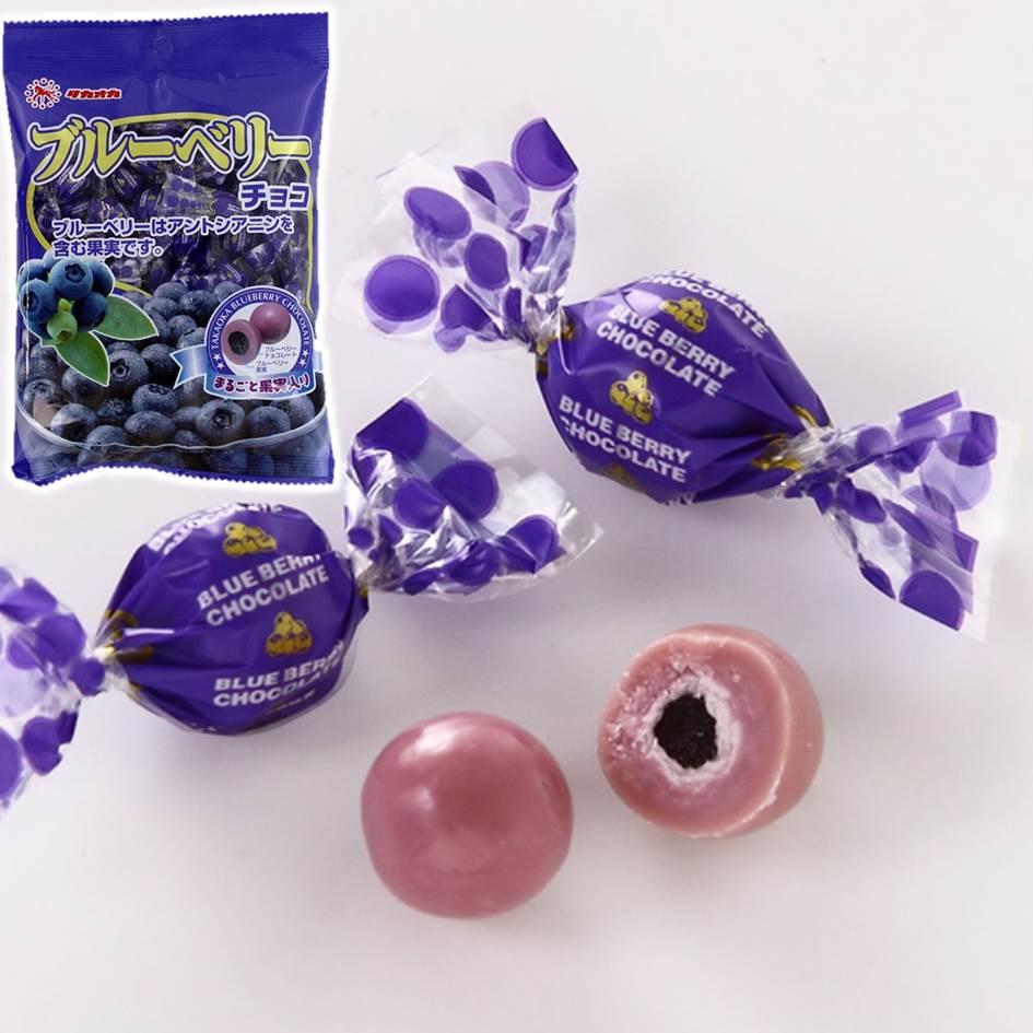 【TAKAOKA高岡】藍莓巧克力球 71g 日本進口零食 タカオカブルーベリーチョコ 3.18-4 / 7店休 暫停出貨 0
