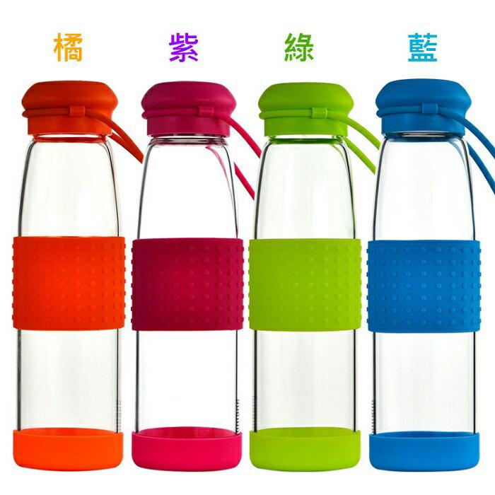 玻璃水瓶 玻璃水壺 隨手杯 500ML-寶儷詩玲瓏 買一送一超取