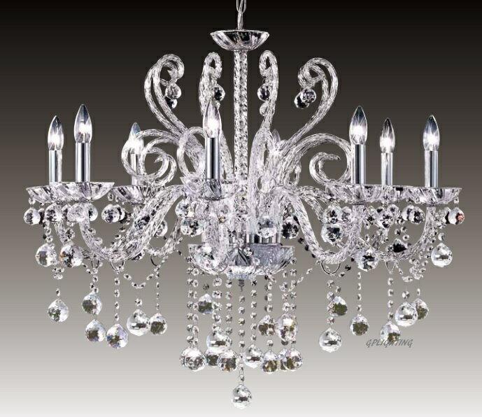 冰鑽水晶蠟燭吊燈 E14 * 8 / E14 * 6