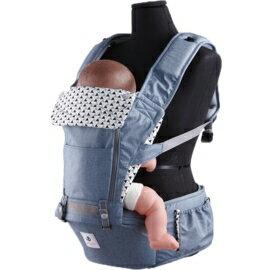 *babygo* 韓國 Pognae-No.5超輕量機能坐墊型揹巾【英國藍】加贈乾濕兩用巾一盒
