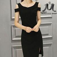 《現貨出清5折》 歐美時尚露肩連身裙-S-2XL - 梅西蒂絲(現貨+預購) 0