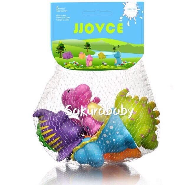 可愛恐龍噴水玩具 彩色恐龍 泡澡玩具 洗澡玩具 色彩豐富 櫻花寶寶