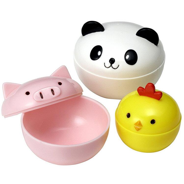 TORUNE 動物造型 便當菜盒 食物分隔 造型便當 零食盒 小飯盒 餐盒 水果 日本進口正版 159208