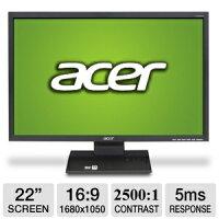 ACER V223W 1680 x 1050 Resolution 22