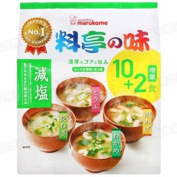 料亭之味4種類味噌湯10+2食 豆腐 / 長蔥 / 海帶 / 油豆腐 219g (原味 / 減鹽) 3.18-4 / 7店休 暫停出貨 1