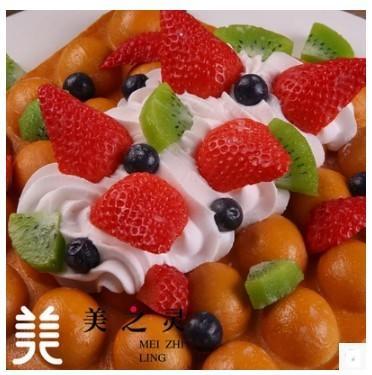 仿真水果奶油原味雞蛋糕模型