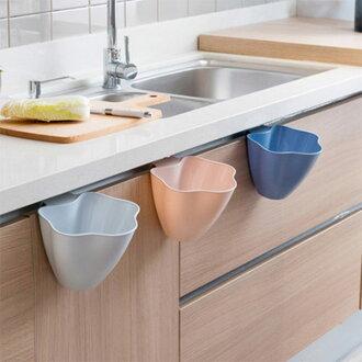 廚房家用多功能櫥櫃式花型垃圾桶北歐色垃圾桶 廚餘桶 【庫奇小舖】