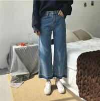 牛仔寬褲推薦到【她時代Sstyle】韓版高腰拼接牛仔寬褲就在她時代Sstyle推薦牛仔寬褲Cosplay