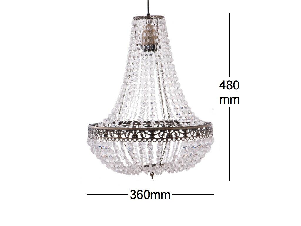 古銅華麗透明壓克力珠吊燈-BNL00050 9