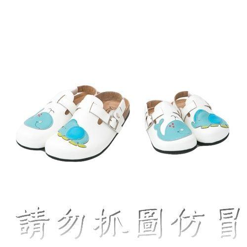 ☆╮愛寶貝童裝╭☆ Kids 品牌 海洋 公園 前包 後空 軟木鞋 兒童款 休閒鞋 親子鞋 防滑鞋 新品