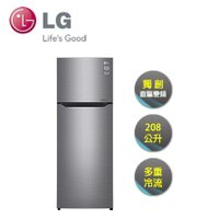 LG電冰箱推薦到LG | 208L 上下雙門 直驅變頻冰箱 星辰銀 GN-L297SV就在映象商城推薦LG電冰箱