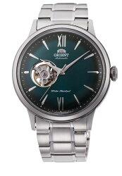 【時光鐘錶】東方錶 ORIENT 經典鏤空 復古機械錶 (RA-AG0026E) 漸層綠/40.5 mm