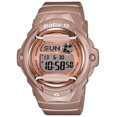 Casio Baby G Pink / Champaign Dial Women's Watch - BG169G-4 0