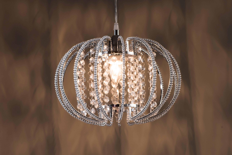 鍍鉻圓形透明壓克力珠吊燈-BNL00046 4