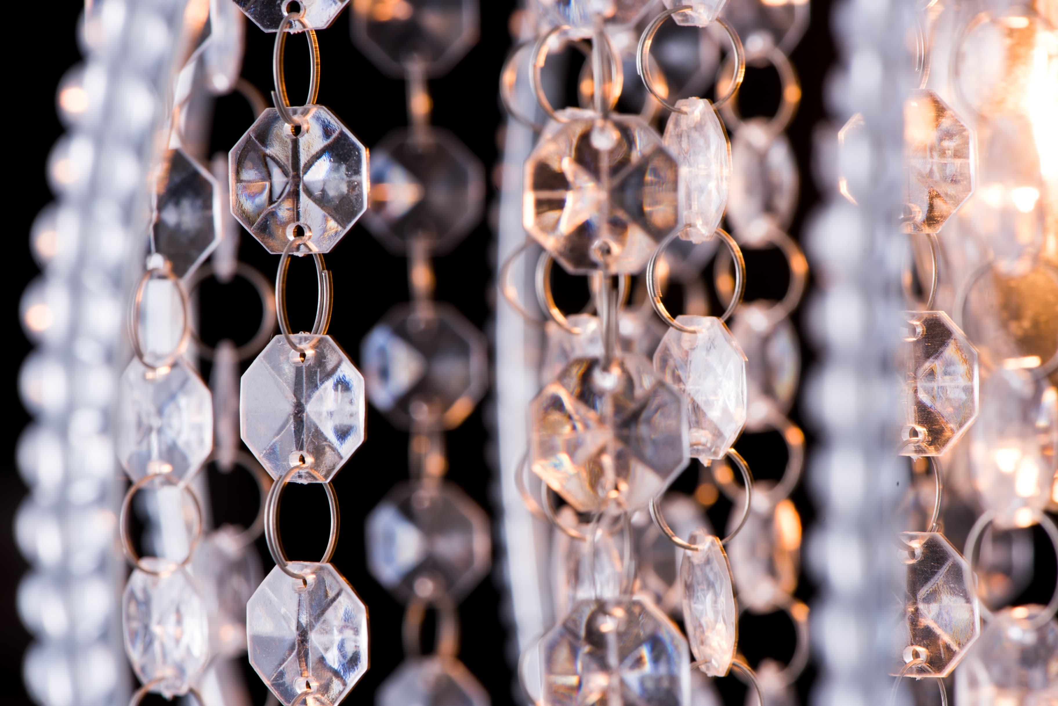 鍍鉻圓形透明壓克力珠吊燈-BNL00046 1