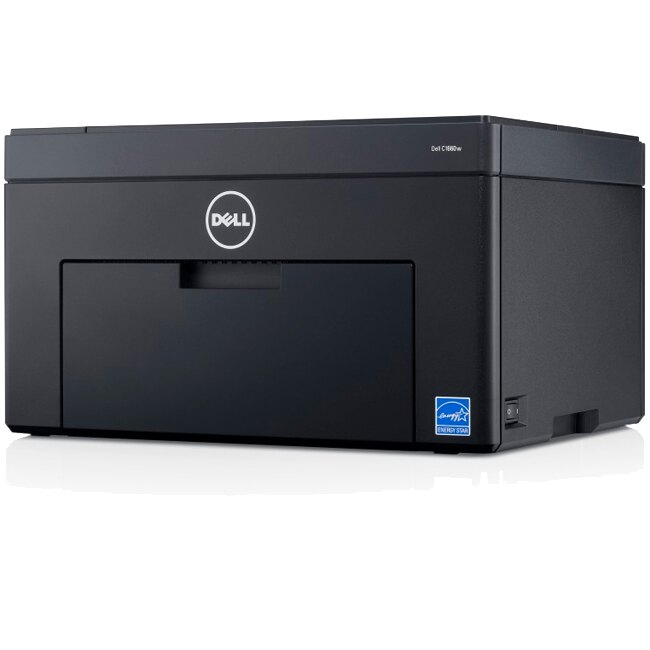 Dell C1660W LED Printer - Color - 600 x 600 dpi Print - Plain Paper Print - Desktop - 12 ppm Mono / 10 ppm Color Print - 150 sheets Standard Input Capacity - 30000 Duty Cycle - Manual Duplex Print - LCD - Wireless LAN - USB 3